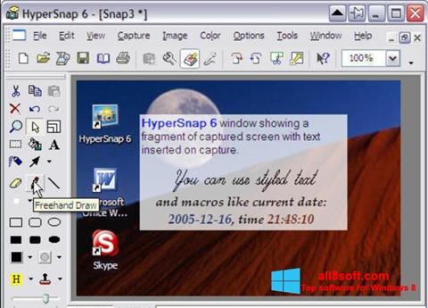 Ekran görüntüsü HyperSnap Windows 8