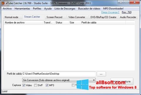 Ekran görüntüsü aTube Catcher Windows 8