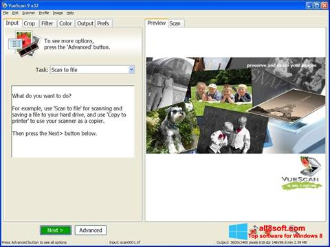 Ekran görüntüsü VueScan Windows 8