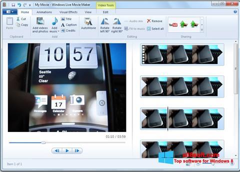 Ekran görüntüsü Windows Live Movie Maker Windows 8