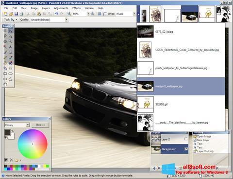 Ekran görüntüsü Paint.NET Windows 8