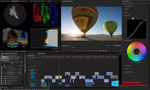 Ekran görüntüsü Adobe Premiere Pro Windows 8