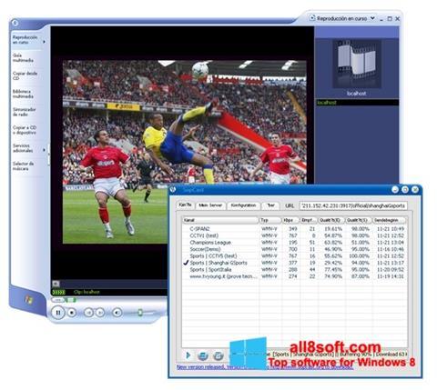 Ekran görüntüsü SopCast Windows 8