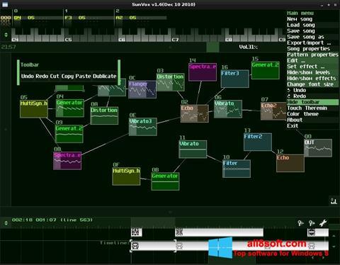 Ekran görüntüsü SunVox Windows 8