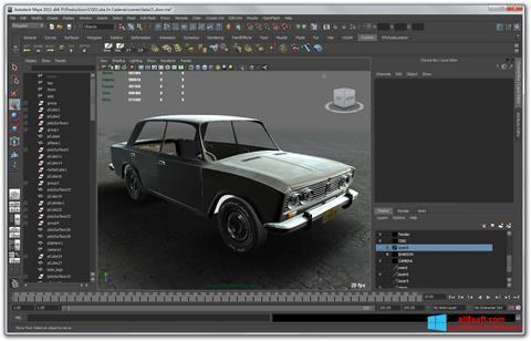 Ekran görüntüsü Autodesk Maya Windows 8