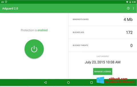 Ekran görüntüsü Adguard Windows 8