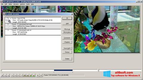 Ekran görüntüsü VirtualDubMod Windows 8