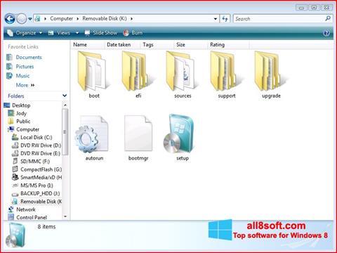 Ekran görüntüsü Windows 7 USB DVD Download Tool Windows 8