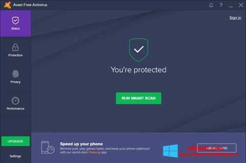 Ekran görüntüsü Avast Free Antivirus Windows 8