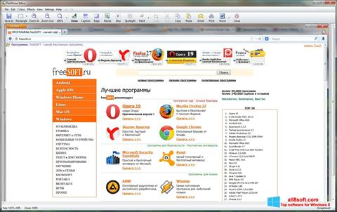 Ekran görüntüsü FastStone Capture Windows 8