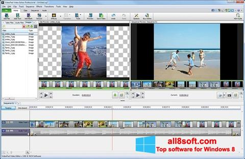 Ekran görüntüsü VideoPad Video Editor Windows 8