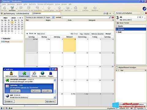 Ekran görüntüsü SeaMonkey Windows 8