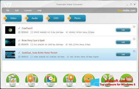 Ekran görüntüsü Freemake Video Converter Windows 8