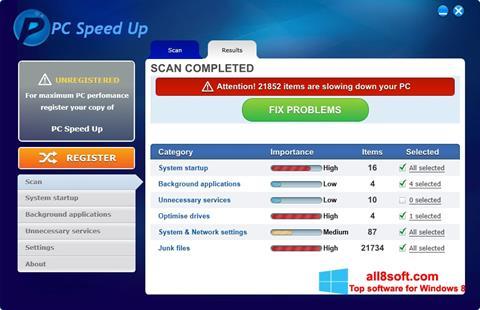 Ekran görüntüsü PC Speed Up Windows 8