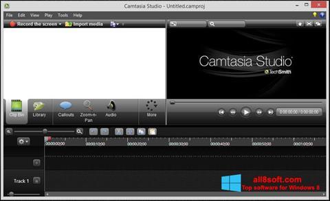 Ekran görüntüsü Camtasia Studio Windows 8