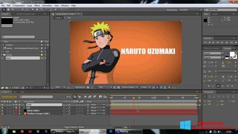 Ekran görüntüsü Adobe After Effects Windows 8