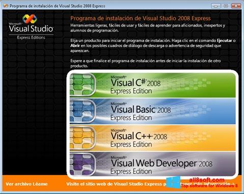 Ekran görüntüsü Microsoft Visual Studio Windows 8