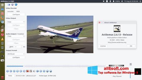 Ekran görüntüsü Avidemux Windows 8